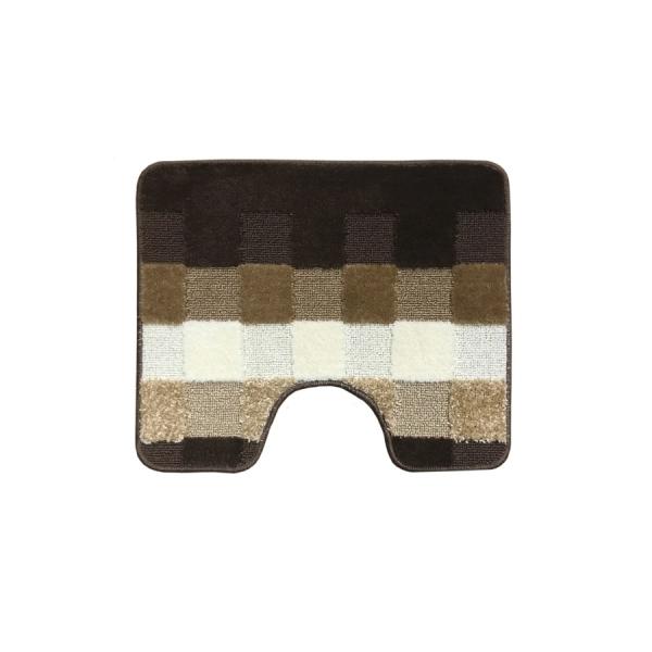 Комплект ковриков L'CADESI MARATHON из полипропилена на латексной основе, 2 шт. 60x100см и 50x60см, Block to block коричневый