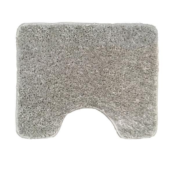 Коврик L'CADESI ALYA из полипропилена с вырезом для унитаза, 50x60см, серый