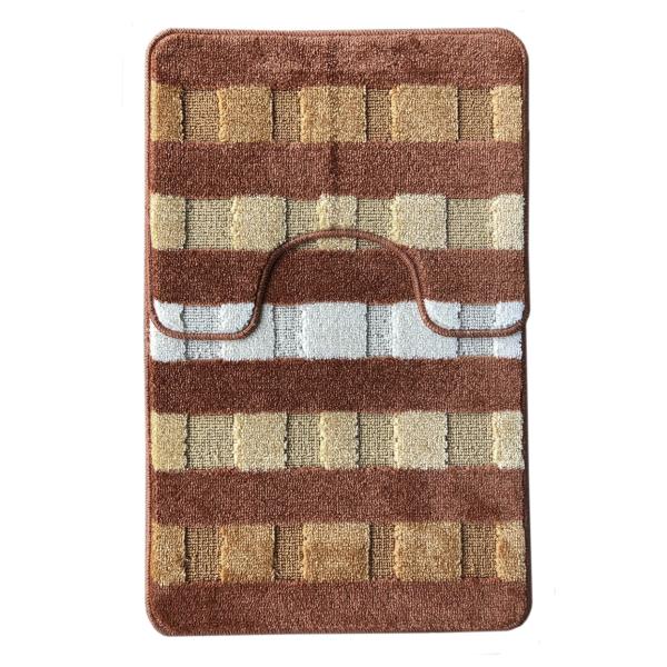 Комплект ковриков L'CADESI MARATHON из полипропилена на латексной основе, 2 шт. 60x100см и 50x60см, Safari терракотовый